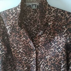 Preston & York animal print shirt size 10